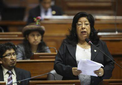 Congresista María Elena Foronda retomó sus labores legislativas