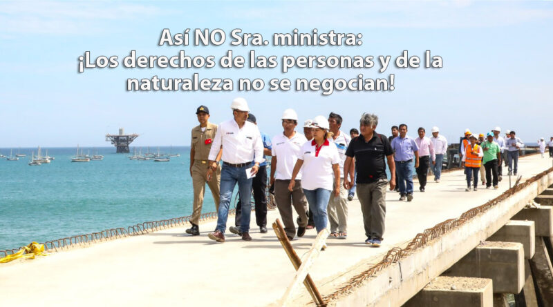ASI NO SRA. MINISTRA DE PRODUCCIÓN